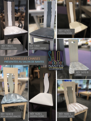 Les nouvelles chaises présentées au salon de Nantes