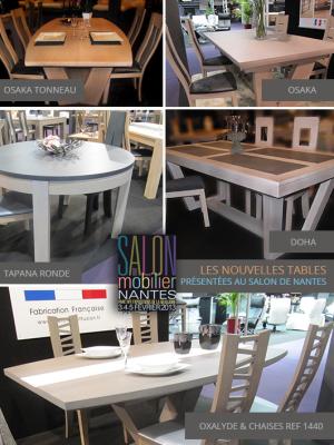 Les nouvelles tables présentées au salon de Nantes